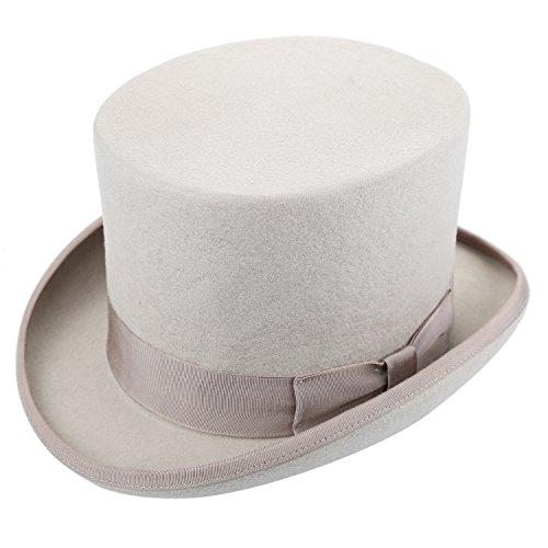 Charlie Chaplin Costume For Kids (Sedancasesa 100% Wool Felt Top Hat Vitorian Style Gentlemen Magic Performing Hat)