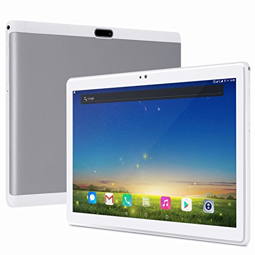 XGODY 10 Inch Tablet RAM 2GB+ ROM 32GB Android 7.0 Wi-Fi Support 4G LTE/3G/2G Network Tablet PC MTK 6753 Octa-Core 2.5HD Screen 1920x1200 Dual camera Cell phone Support Dual SIM Card Bluetooth (White) by Xgody