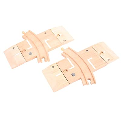 Bigjigs Rail and Road BJT223 Curved Level Crossing: Toys & Games