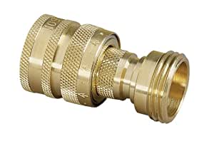 Nelson 50336 Brass Hose Quick Connectors Set, Male and Female