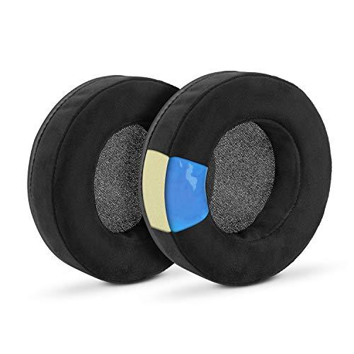 Brainwavz Gaming Earpads for Razer Kraken & Other Gaming Headsets & AKG 701 Q701 & Other Headphones (See List, Dimenion & Video), Cooling Gel, Memory Foam, Micro Suede, XL Round Black
