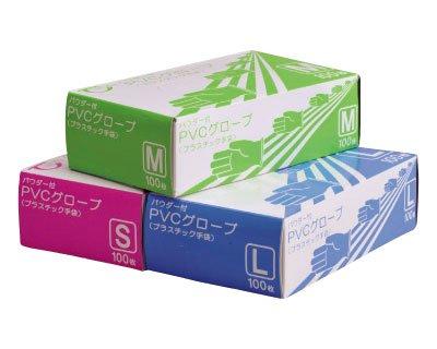 PVCグローブパウダー付き100枚入×40箱 (Sサイズ 40箱) B07CP31F22  Sサイズ 40箱