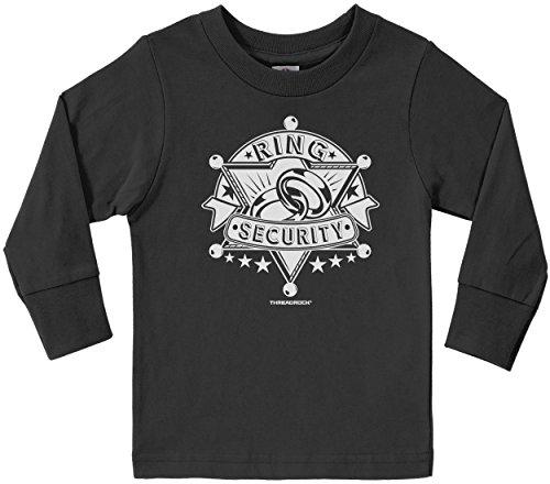 Petal Design Ring - Threadrock Little Boys' Ring Security (Design #2) Toddler L/S T-shirt 3T Black