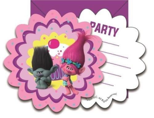 Procos Dreamworks Trolls Party Invitations & Envelopes by Tr
