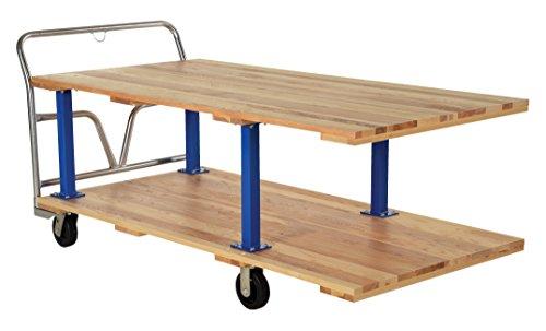 Vestil-VHPTD-3672-Double-Decker-Hardwood-Platform-Cart-1600-lbs-Capacity-72-Length-x-36-Width-Deck-Overall-Height-in-36-12-Lower-Deck-Height-in-9-12-Top-Deck-Height-in-29-12