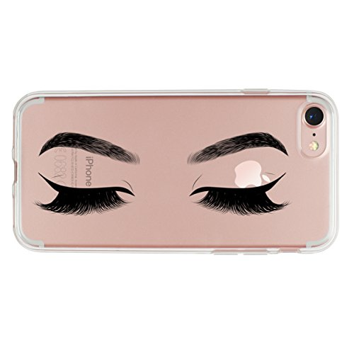 iPhone 6 Plus Case,iPhone 6S Case,Women Girls Charming Makeup Eyes Eyelashes Clear Soft Shock Absorption Anti-Scratch TPU Rubber Protective Case Cover for iPhone 6/6S Plus - Tpu Rubber Protective Case