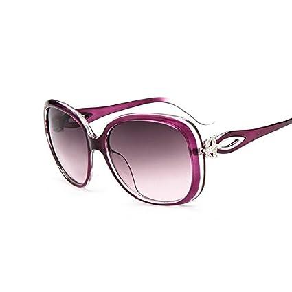 0874e31db9 tocoss (TM) Vintage Fox Oval gafas de sol mujer marca funda marco redondo  Retro