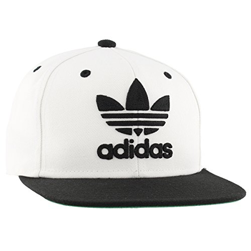 Adidas Men S Originals Snapback Flat Brim Cap White Black