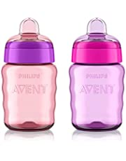 Philips Avent My Easy Sippy Cup 9oz, Pink/Purple,2pk, SCF553/23