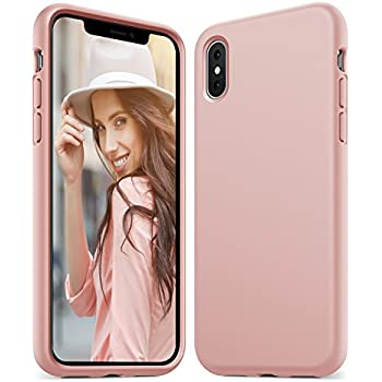 5746b9dfde Anker iPhone X Silicone Case, KARAPAX Silicone Gel Rubber Shockproof Case  Cover with Soft Microfiber Cloth Cushion [Support Wireless Charging] [Slim  Fit] ...