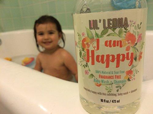 Baby Shampoo Body Wash and Bubble Bath - 16 oz - Organic Calendula & Aloe Vera Juice Extract - Tear Free, Gluten Free, Vegan (Unscented)