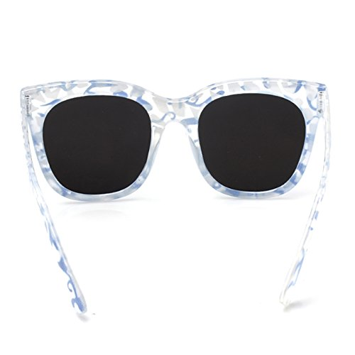 para sol Azul Étnica mujer sol Gafas Gafas de Accessoryo de fxq00TB