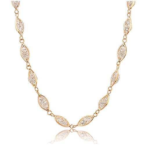 (Mytys Choker Necklaces for Women Knot Crystal Mesh Tennis Gold Necklace Fashion Jewelry with Gift Box )
