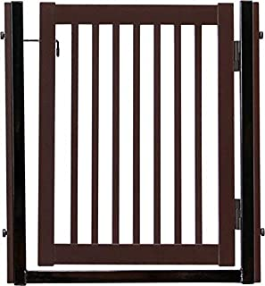 """product image for Dynamic Accents Amish Craftsman Citadel Pressure Mount Pet Gates are Handcrafted 34"""" High - spans a 32"""" Opening/Mahogany"""