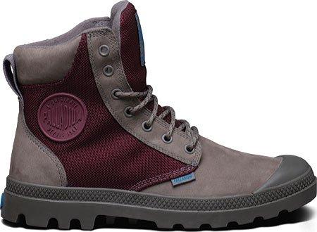 PalladiumPampa Sport Cuff WPS - botas y botines de tacón bajo Unisex adulto Moss Grey Burgundy