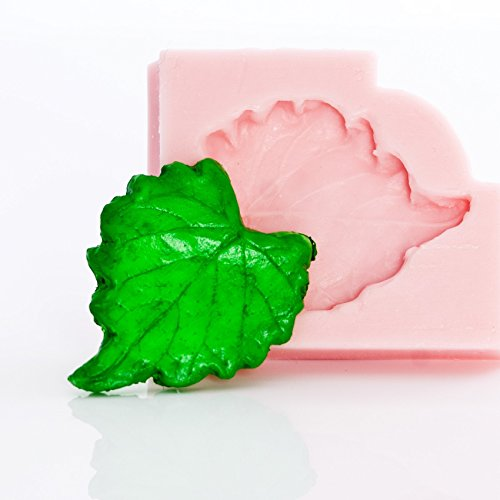 Small Grape Leaf (Small Grape Leaf Flexible Silicone Mold, Fondant, Candy, Chocolate, Food Safe, Polymer Clay, Resin Mold, Epoxy and so much more )