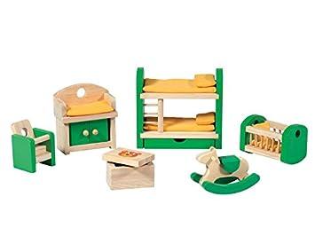 89f20f33d5f3af PLAYTIVE® JUNIOR Puppenhaus- Möbelset Kinderzimmer  Amazon.de  Spielzeug