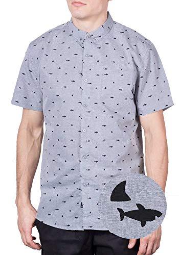 Visive Mens Hawaiian Shirt Short Sleeve Button Down ()