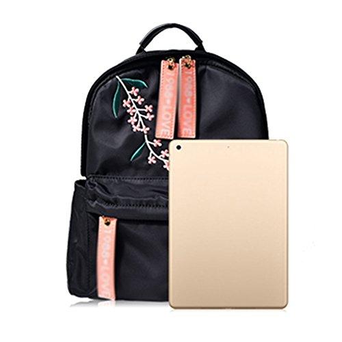 Handtasche Stickerei Schultaschen Bags ZCJB Rucksack Lady Tuch Nylon Laptoptasche w87fxdqZX