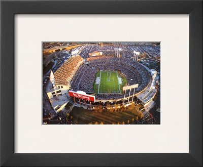 - Oakland: Network Associates, Raiders Football Framed Art Poster Print by Mike Smith, 14x12