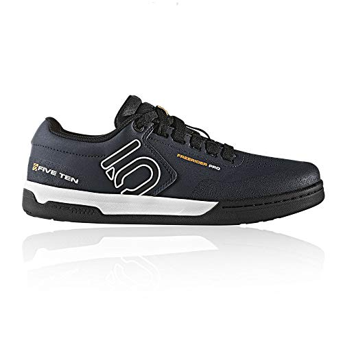 Five Ten Freerider Pro Mens Mountain Bike Shoes, (Night Navy, Cloud White, Collegiate Gold), Size 10.5