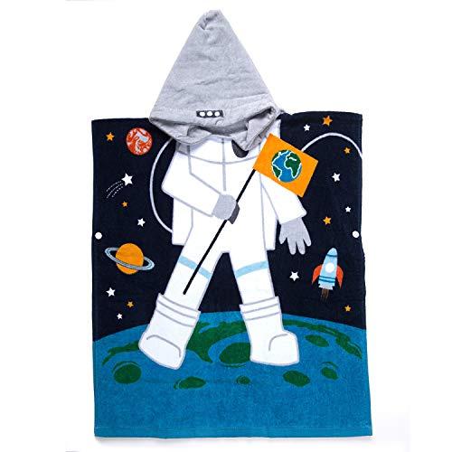 ZSKJ Children's Cotton Poncho Hooded Bath Towel, 100%