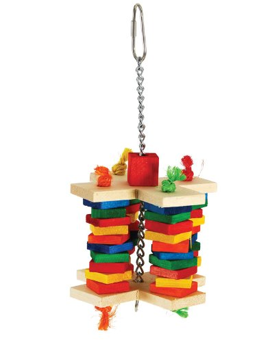 Paradise Toys Rainbow Criss Cross, 4 Stacks of Colorful Wood Slats, 5-Inch W by 10-Inch L by Paradise Toys