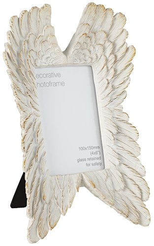Chateau Lux Angel Wings French White 4x6 Photo (Angel Picture Frame)