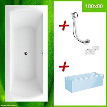 Sehr Badewanne mit Wannenträger 180 x 80 SONDERANGEBOT ⇒ FENIX 180x80 CX95