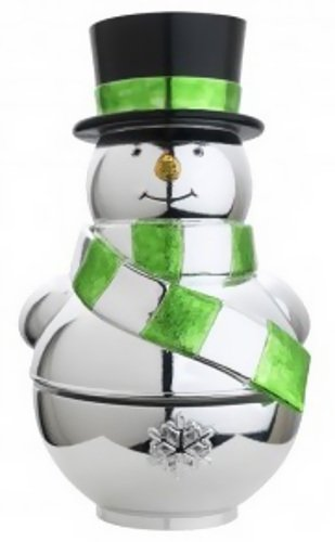 Snowman with Gift Christmas Musical Reed & Barton Snowman