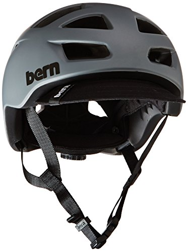 Bern Unlimited Allston Helmet with Black Flip Visor, Matte Grey, Small/Medium For Sale