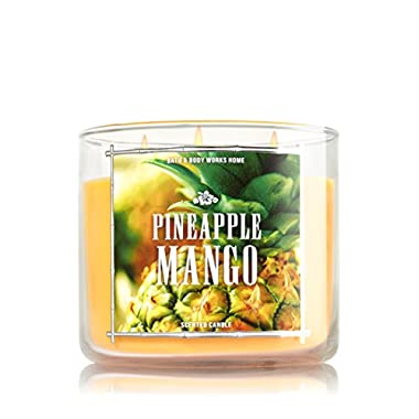1 X Bath & Body Works 3 Wick Candle 14.5 Oz Pineapple Mango