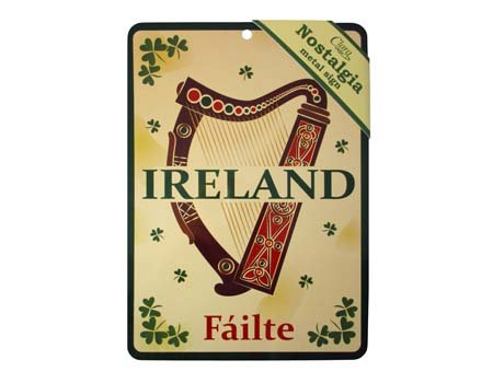 Royal Tara Irish Harp Nostalgia Metal Sign