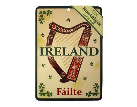 (Royal Tara Irish Harp Nostalgia Metal Sign )