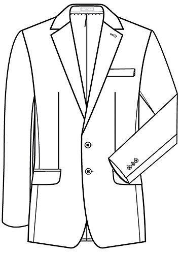 nbsp;style De Comfort nbsp; Chaqueta nbsp; 1122 nbsp;chaqueta Premium Greiff Hombre Fit Negro Traje 4fxwqvC6