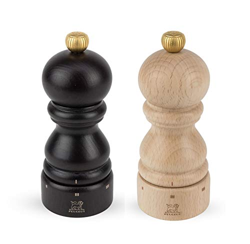 Peugeot Paris U'Select 5-Inch Pepper & Salt Mill Set, Chocolate & ()