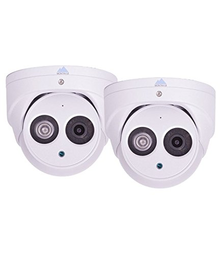 Montavue MTT4870-2PK 2 Pack of 2K 4MP HD IP Turret/Dome Camera w/ HypeIR Night Vision 200ft, Built-in Audio Mic & Color Night Optics by Montavue