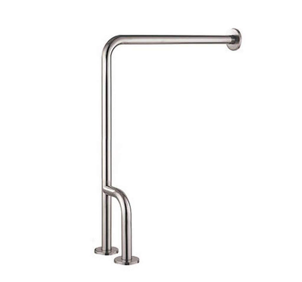 LXDfs Bathroom Handrail,304 Stainless Steel L-Shaped Handrail, Bathroom Safety Toilet Railing Handle, Old Man Booster Railing Rails (Color : The Right Paragraph) by LXDfs