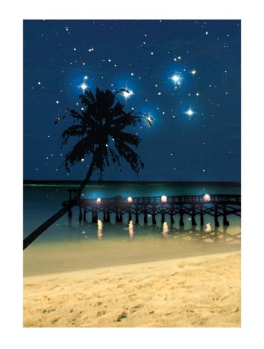 Ohio Wholesale Radiance Lighted Canvas Wall Art, Starry Night Beach Canvas Design, from our Everyday Collection