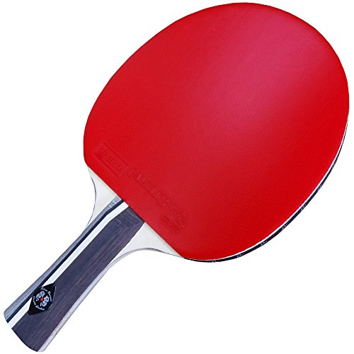 Custom Gambler Professional Table Tennis Paddle with Double Carbon Blade and Sevens Rubber plus Blue Case