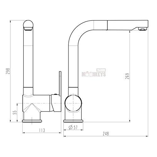 niederdruck sp ltisch armatur einhebel wasserhahn mischbatterie mit brause k che mit hohem. Black Bedroom Furniture Sets. Home Design Ideas