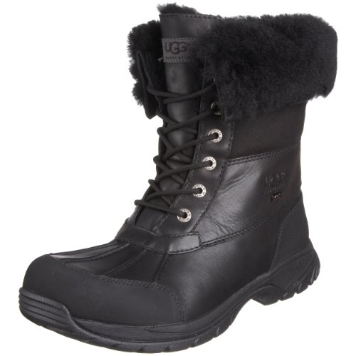 UGG Men's Butte Snow Boot, Black, 9.5 M US (Boots Ugg Mens Short Classic)