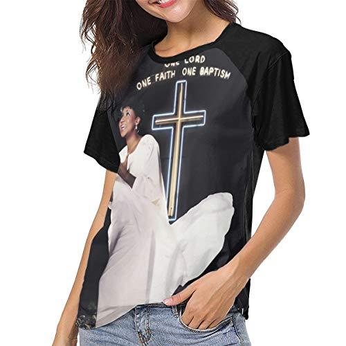 Aretha Franklin One Lord, One Faith, One Baptism Woman Classic Fashion Print T-Shirt L Black