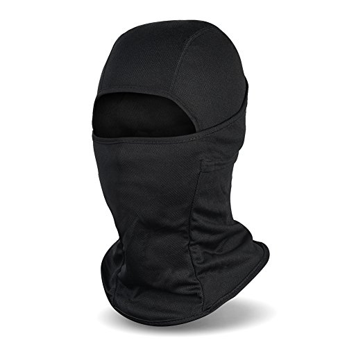 Balaclava Ski Mask, Winter Hat Windproof Face Mask for Men and Women, Black -