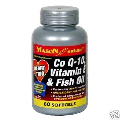 Mason Vitamins Natural Co Q-10 Vitamin E 7 Fish oil #60
