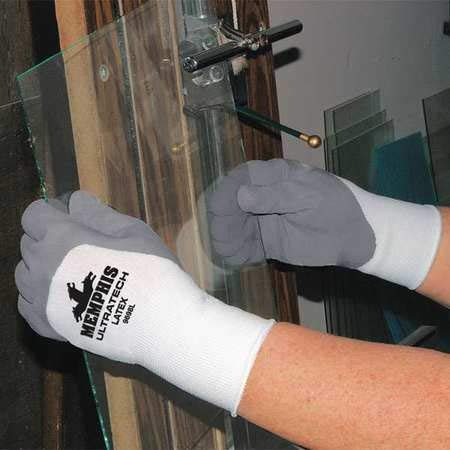 Chemical Resistant PVC Gloves, L, 14''L, Textured, 12 pk. by MCR SAFETY (Image #1)
