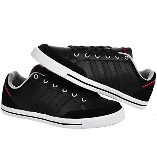 Leder-männer Neo Turnschuhe Adidas Schwarz Cacity