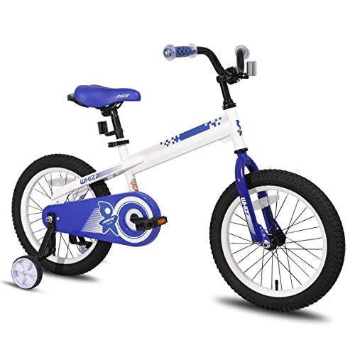 JOYSTAR 12 Inch Kids Bike with Training Wheels for 2 3 4 Years Old Boys, Toddler Cycle for Early Rider, Child Pedal Bike, White
