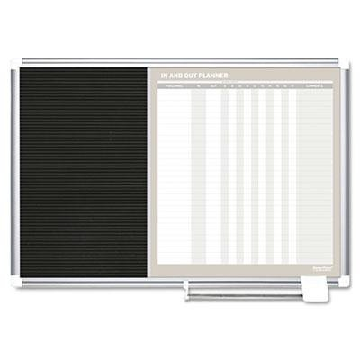 Brand New Mastervision In-Out And Notice Board 24X18 Silver Frame
