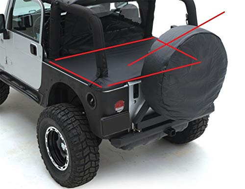 - AUTO PARTS LAB Rock Crusher 5590115S Tonneau Top Boot Cover Denim Black for 92-95 Jeep Wrangler